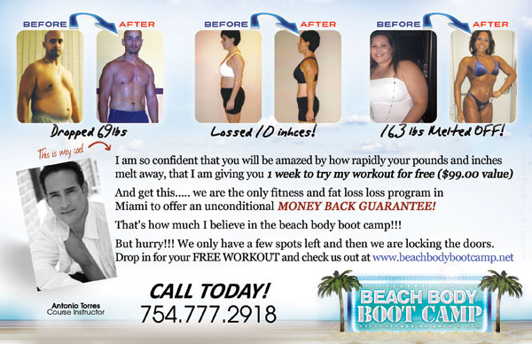Beach Body Boot Camp Flyer 1 Tight Designs Printing Of Florida