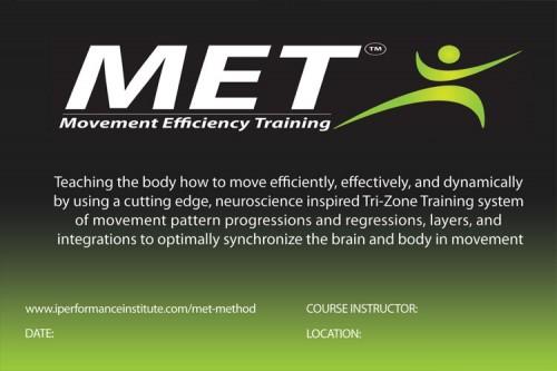 met movement efficiancy training