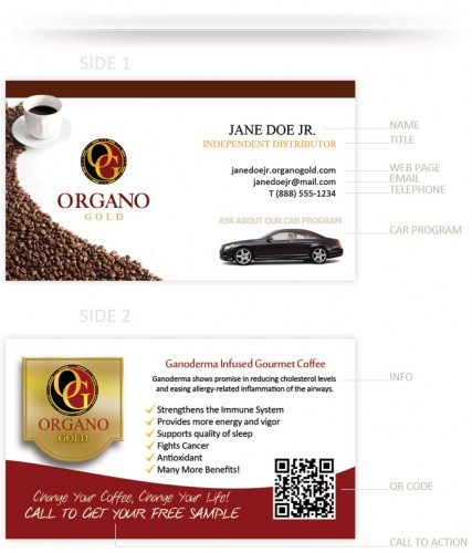 Organo Gold Business Cards