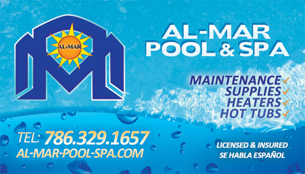 Al Mar Pool Service Business Card Design Tight Designs