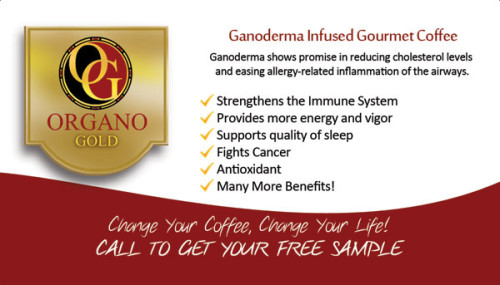 Organo Gold BUsiness Cards for distributors