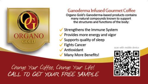 Teri Mazzella Organo Gold Business Cards
