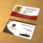 Front & Back business cards displayed