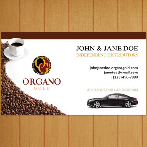Organo Gold Car Program Business Cards