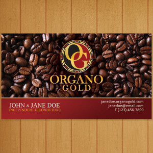 Organo Gold Cool Beans Business Card