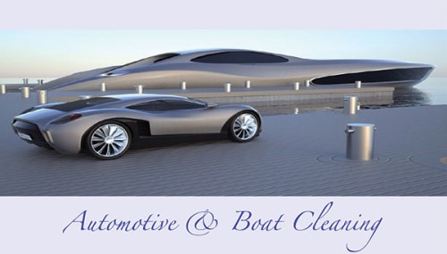 Automotive & Boat Cleaning Business Cards