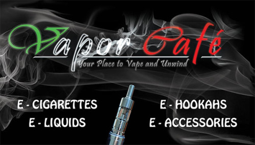 Business Cards for the Vapor Cafe of Pembroke Pines.