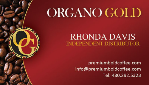 Rhonda Davis Organo Gold Business Cards
