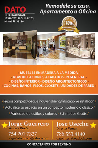 Dato International remodelaciones en Miami.