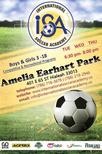 International Soccer Academy at Amelia Earhart Park Hialeah.