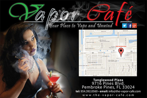 Vaping Store with e-cigarette products in Pembroke Pines.