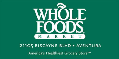 6' x 3' scrim vinyl banner for Whole Foods Market in Aventura.