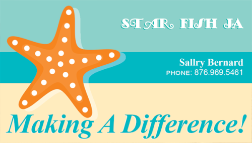 Star Fish JA business card design.