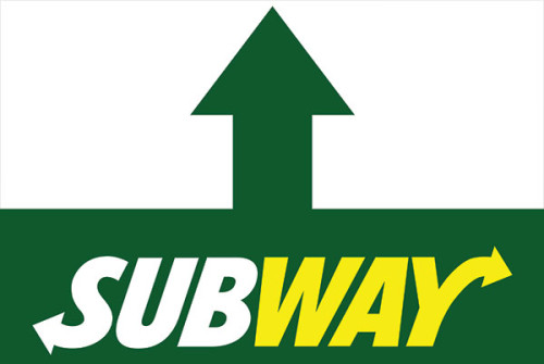 Subway Restaurant Store Ahead Sign Design