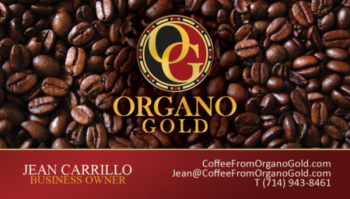 Jean Carrillo Organo Gold Business Card