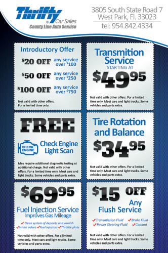 Thrifty Car Sales Flyer Design