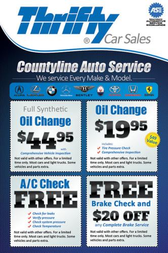 Thrifty Car Sales Auto Service Flyer Design