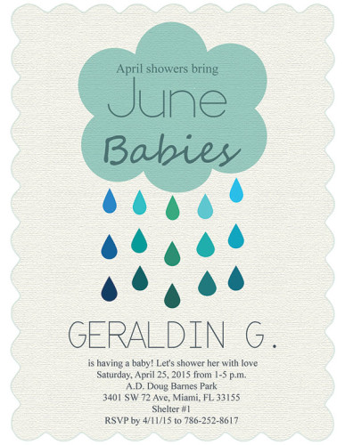 Geraldin Baby Shower Card Design