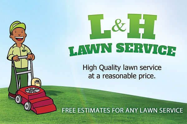 Landscaping business cards car magnets flyer printing for Lawn care t shirt designs