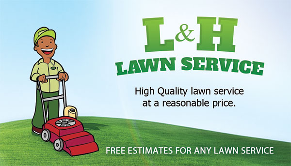 lh landscaper business card design print in miramar - Lawn Service Business Cards