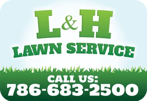 L&H Landscaping Car Magnet Design & Printing in Pembroke Pines