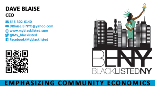 Blacklisted New York business card printing