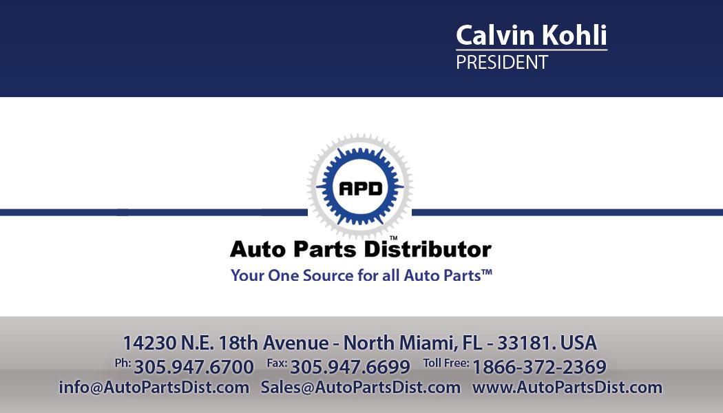 auto parts distributor    euro auto world business cards